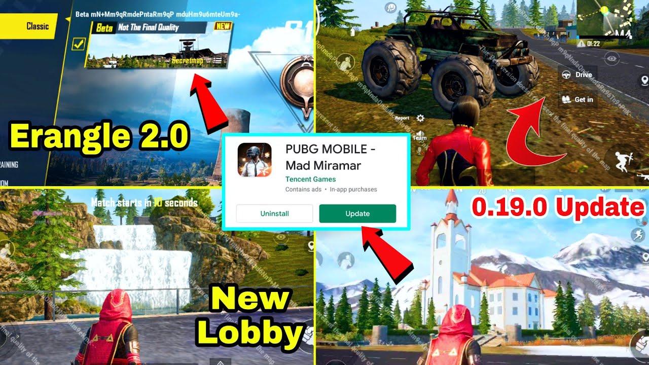 PUBG Mobile 0.19.0 Update : New Map,New Gun,New TDM Mode