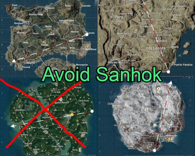 Avoid Sanhok Map and Play Miramar or Erangel