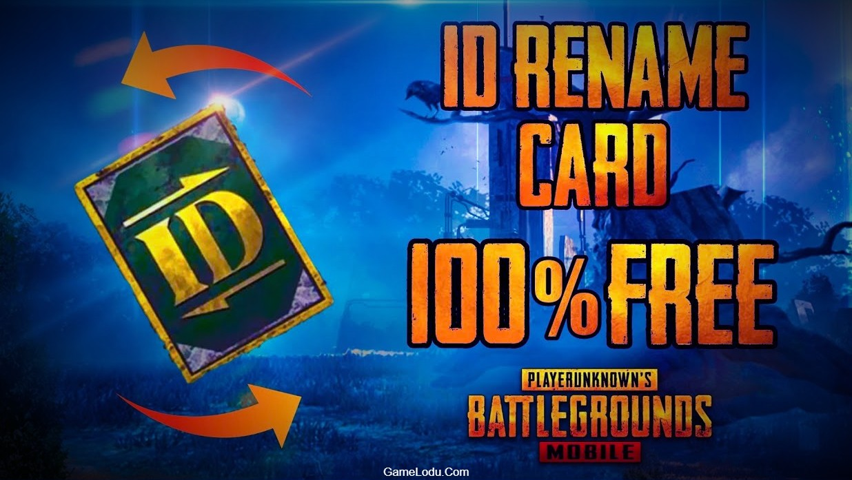 How to get FREE ID Rename CARD IN PUBG Mobile