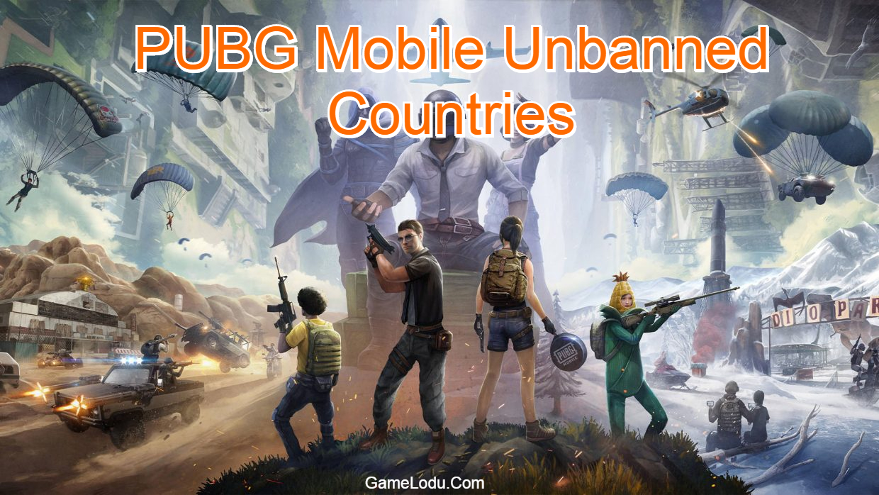 PUBG Mobile Unbanned Countries