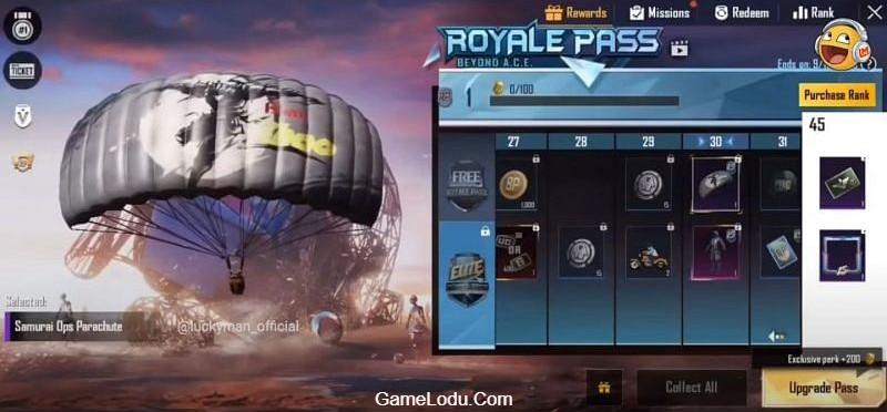 Samurai Ops Parachute (Image Credits: LuckyMan)