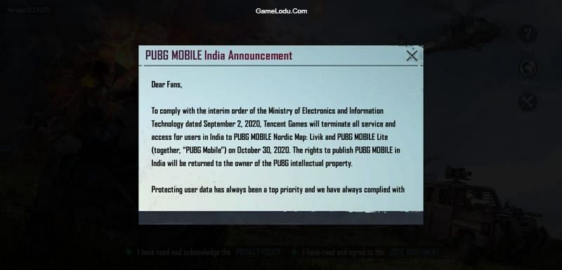 In-game message