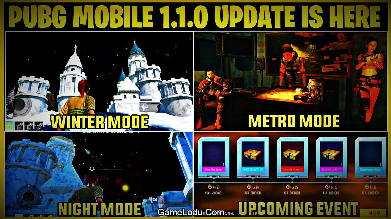 PUBG Mobile 1.1 Global Version Beta Update