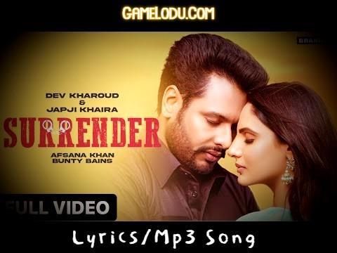 Surrender Afsana Khan New Punjabi Mp3 Song